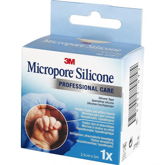 MICROPORE SILICONE 5M X 2.5CM