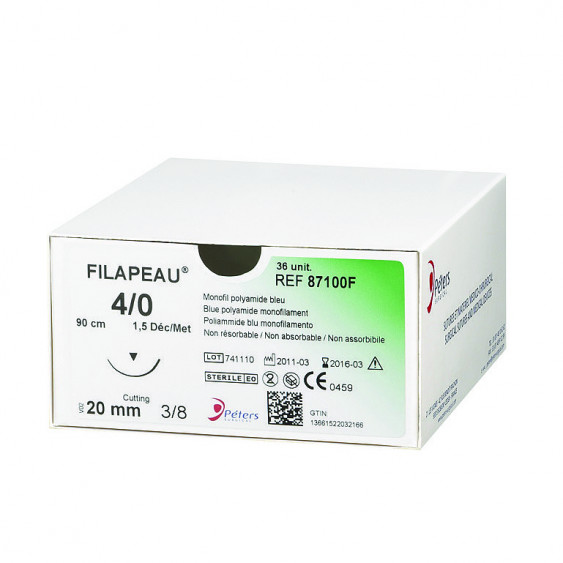Fils de sutures Filapeau - Incolore - Peters Surgical - Boîte de 36