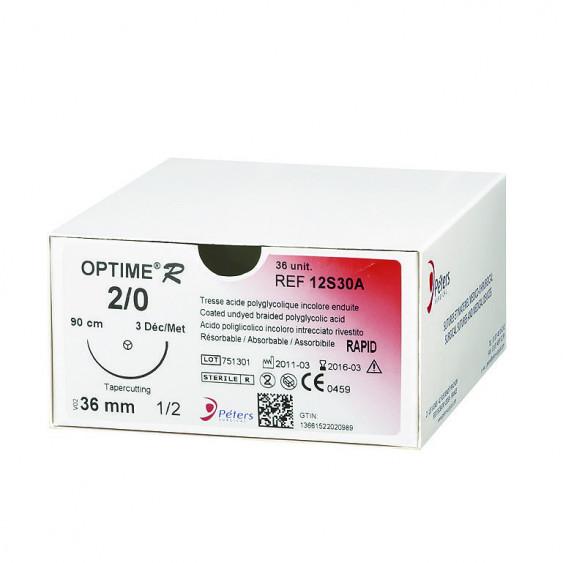 Fils de sutures OPTIME R - Aiguille Extrablack - Peters Surgical