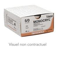 Fils de sutures Monocryl - 4/0 70 cm 19 mm 3/8 cercle