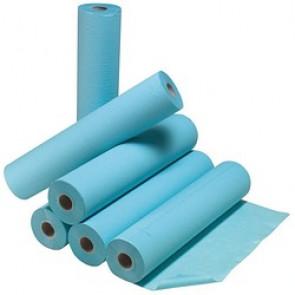 Drap d'examen plastifié bleu - 50 x 38 cm