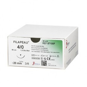 Fils de sutures Filapeau - Bleu Foncé - Peters Surgical - Boîte de 36