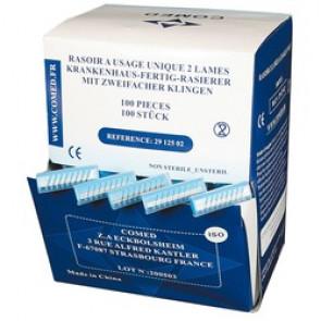 Rasoirs peigne - 1 ou 2 lames - Boîte de 100.